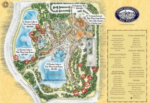 Portofino property map showing pet walking areas.