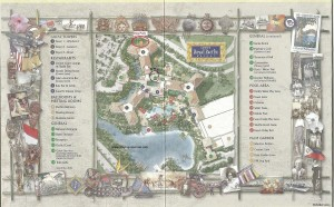 Royal Pacific property map showing pet walking areas.
