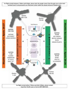 MCO Superstar Shuttle Map