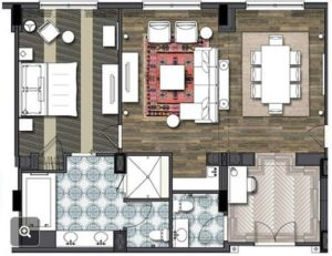 Sapphire Suite at Sapphire Falls Resort Layout