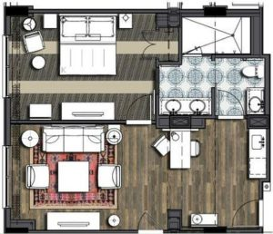 Sapphire Falls King Suite Layout
