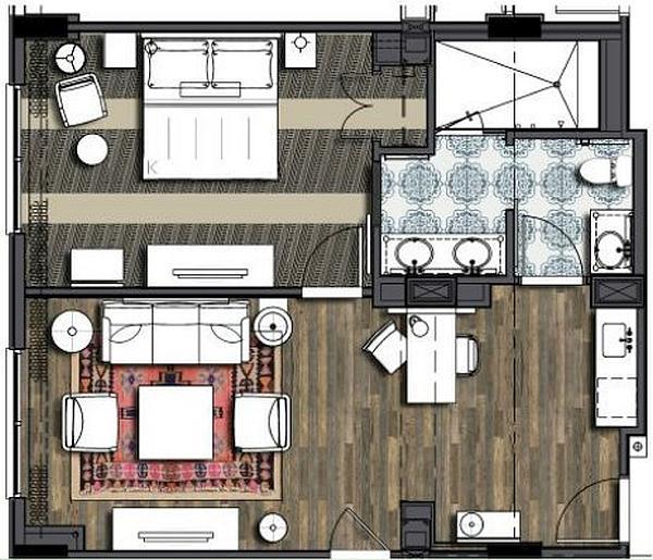Loews Sapphire Falls Resort Hospitality Suite  Queen Beds