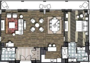 Sapphire Falls Resort Hospitality Suite Layout
