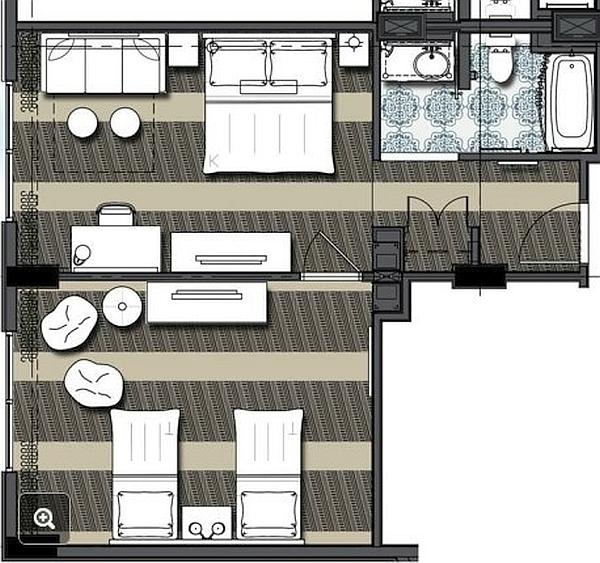 Bedroom Layout 2 Twin Beds