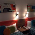 Cabana Bay Beach Resort Family Suite Bedroom Draper Lamps