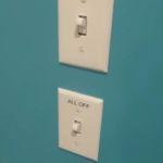 Cabana Bay Beach Resort Standard Room Power Switch