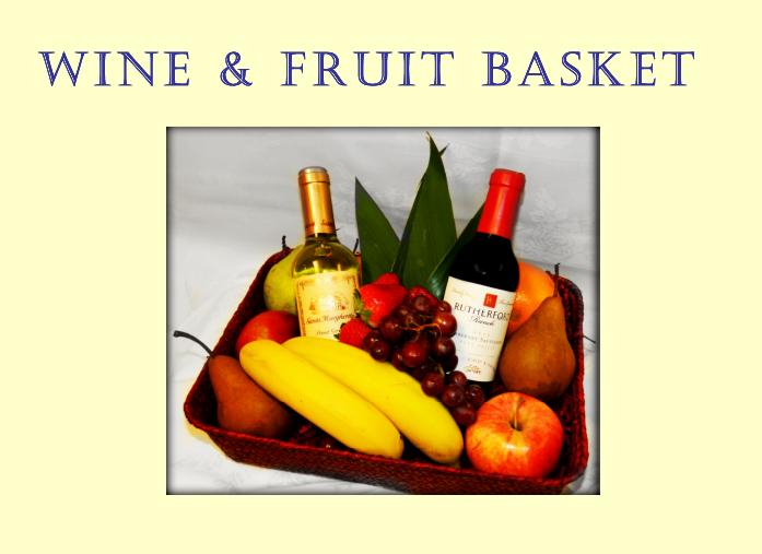 Wine & Fruit Basket at Portofino Bay Resort